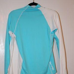 Bare Swim - Bare Rashguard blue and white women's size medium